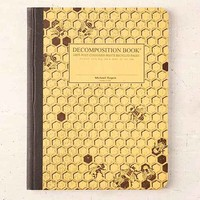 Decomposition Book Honeycomb Notebook- Dark Yellow One