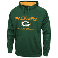 Green Bay Packers Majestic Gridiron VI Synthetic Pullover Hoodie – Green
