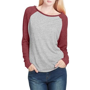 PREMIUM Lightweight Raglan Long Sleeve Loose Baseball Tee (CLEARANCE)