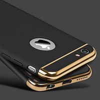 for iphone 6s 6 Plus Case Armor Slim Gold Black Cases for iphone 7 Plus 5 5S SE Luxury Cover Shockproof Accessories for iphone 7
