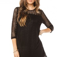 Hailee Dress in Black - ShopSosie.com