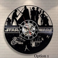 Star Wars Wall Clock Broken Record