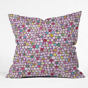 Sharon Turner Buttons And Bees Throw Pillow