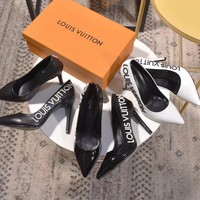 Louis Vuitton LV New style Pointed Single Shoe Woman High Heels LV Print Shoes