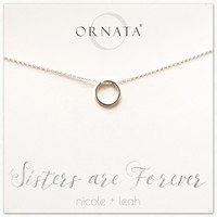 """Sisters are Forever"" Sterling Silver Necklace 