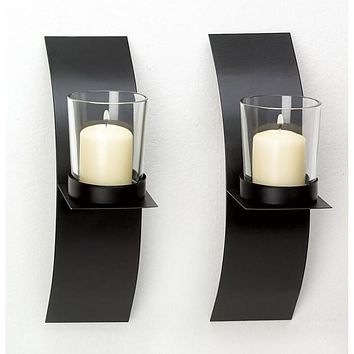 Mod-Art Candle Sconce Duo-24pk