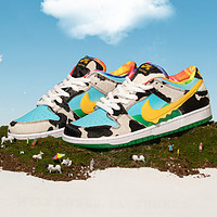 Nike SB Dunk Low Pro QS SQ & Ben & Jerry's New fashion hook couple shoes