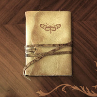 Forgotten - Leather Journal, Vintage Style Journal, Cream and Brown Travel Notebook