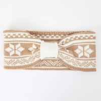 Altar'd State Gathered Wintry Headwrap in Beige | Altar'd State