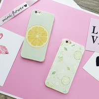 Oranges and lemons mobile phone case for iphone 5 5s SE 6 6s 6 plus 6s plus + Nice gift box 71501