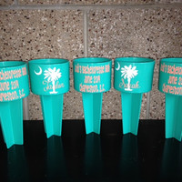 Personalized Spiker Beach Cup holder Bachelorette party