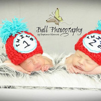 Thing 1 & Thing 2 hat set, Twins hat, Photography prop,