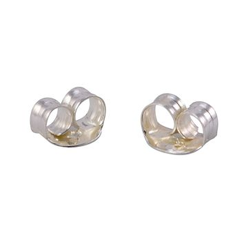 .925 Sterling Silver Replacement Earring Backs Clutches Friction Backs