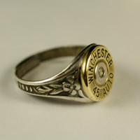 Bullet Ring Adjustable Steampunk Victorian Jewelry Spent Shell Casing Cut MANY OPTIONS AVAILABLE - Winchester / Remington / Federal / 1911