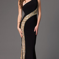 Floor Length One Shoulder Dress by Xtreme