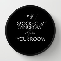 Stockholm Syndrome Wall Clock by Dan Ron Eli