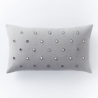 Mirrored Dot Pillow Cover - Feather Gray