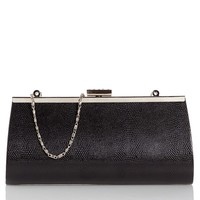 Snake-Embossed Frame Clutch w/ Crystal Clasp 547126840