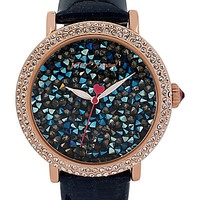 ROCK CRYSTAL NAVY WATCH