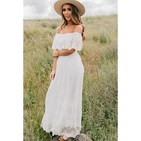 Precious Moments Off The Shoulder Dress (White)