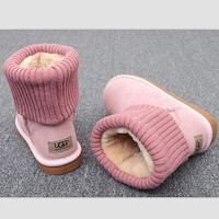 UGG Fashion Plush leather boots boots in tube Boots Pink-1