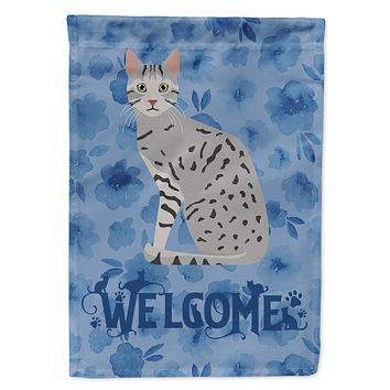 Egyptian Mau Cat Welcome Flag Canvas House Size CK5032CHF
