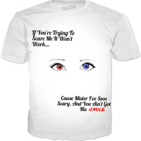 "Harley Quinn ""you Can't Scare Me"" T-shirt"