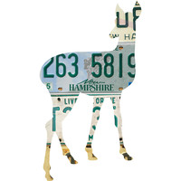New Hampshire License Plate Deer