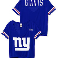 New York Giants Cropped V-Neck Athletic Tee - PINK - Victoria's Secret