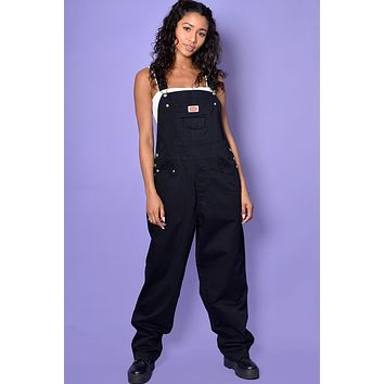 Super Duper Over it Baggy Deadstock Overalls - Black