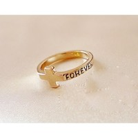 FREE SHIPPING Cross Ring Tail Ring / Ring 110506159 from GowithGalaxy