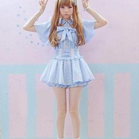 Sweet Princess Outfit - Suspender Skirt & Blouse