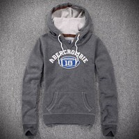 Abercrombie & Fitch Women Fashion Casual Cardigan Jacket Coat Hoodie-18