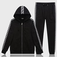 Boys & Men Fendi Cardigan Jacket Coat Pants Trousers Set Two-Piece
