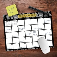 Black White and Gold Desk Calendar