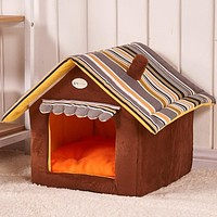 Hot Sale Cute House Dog Bed Pet Bed Warm Soft Dogs Kennel Dog House Pet Sleeping Bag Cat Bed Cat House Cama Perro