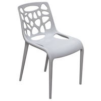 Ocean 4-Pack Indoor/Outdoor Accent Chairs in Grey Polypropylene (PP)