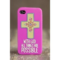 Natural Life Iphone 4/4s Case - With God