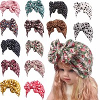 Baby Hat Floral Baby Girls Hats bowknot Baby Girls Caps Children's Spring Autumn Hats For Girls Kids clothes Accessories D35