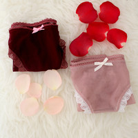 Simple Little Panty 2-Pack Gift Set in Rose Mauve/Cinnabar
