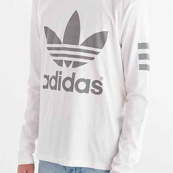 adidas Originals 3M Reflective Game Long-Sleeve Tee- White