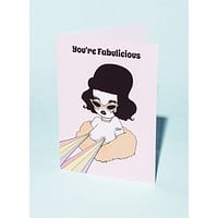 You're Fabulicious Greeting Card
