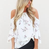 Spring Blossoms Top {Ivory}