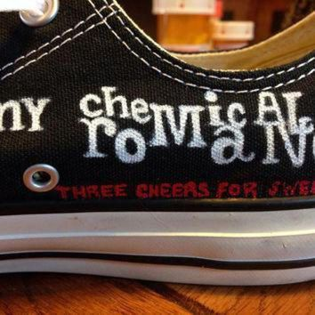 DCCK1IN hand painted my chemical romance converse