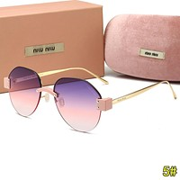 Miu Miu Summer Popular Woman Men Cute Sun Shades Eyeglasses Glasses Sunglasses 5#