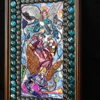 Angel Picture Wall Decor Stained Glass Mosaic . Unique gift idea, Christmas gift, Christian Art, Heavenly, Housewarming gift, Angels