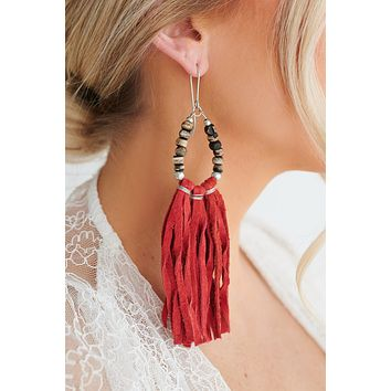 See The Future Dangle Earrings (Red)