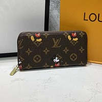 LV x Disney Long Small Wallet Fashion All-match Clutch bag