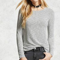 Vented-Hem Striped Tee
