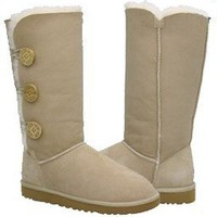 Sand Bailey Button Triplet UGG Boots [1873 Sand] - £90.06 :